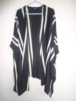 winter cape (black & white)
