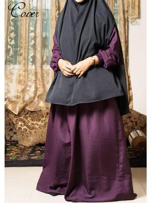 Plain Burkha-purple