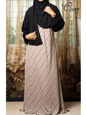 stripe abaya