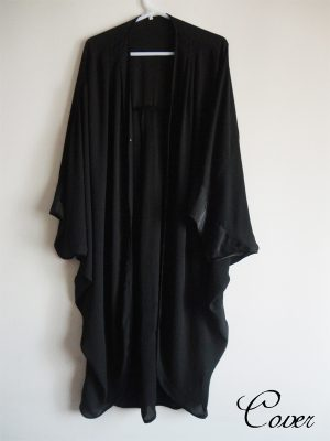 batwing shrug-black