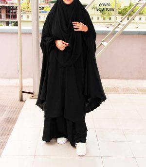 Niquab Khimar-Palazzo Set (black)