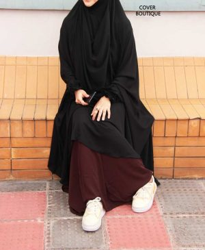 Niqab-Khimar Set (black-coffee)