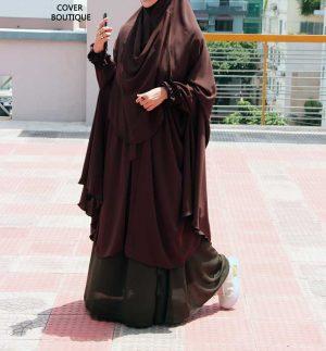 Niqab-Khimar Set (coffee-olive)