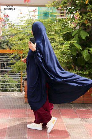 Niqab-Khimar Set (blue-maroon)
