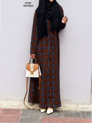 College Maxi (coffee checkered)