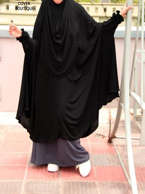 Niquab-Khimar Set (black-gray)