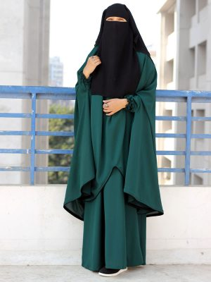 Sanjida Jilbab Set(teal green)