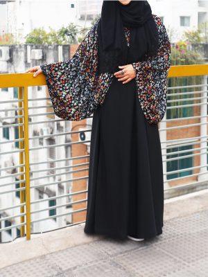 Rahma Abaya (black print)