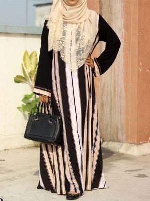 Zohra Burkha (stripes)