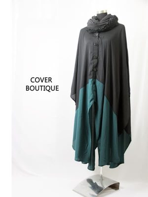 Button Cape (teal green)