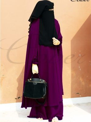 Signature Jilbab Set (deep magenta)