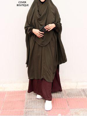 Niqab-Khimar Set (olive-coffee)