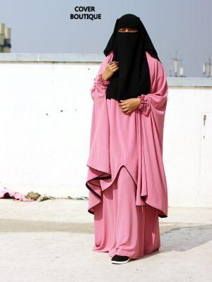 Sanjida Jilbab Set (pink)