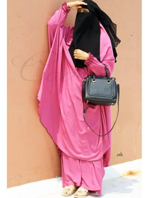 Jilbab set (pink)