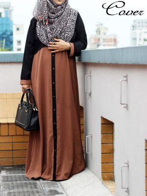 Muntaha Burkha (brown)