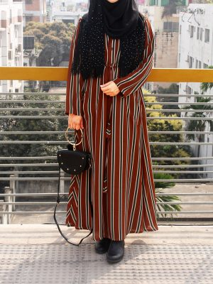 College Maxi (brown stripes)