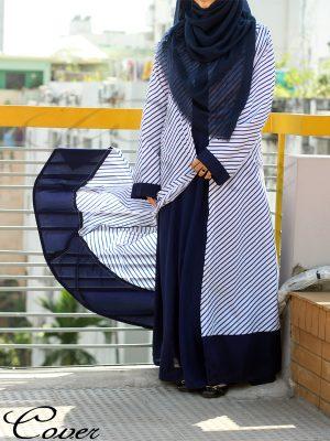 Stripe Shrug+Inner Combo (blue)
