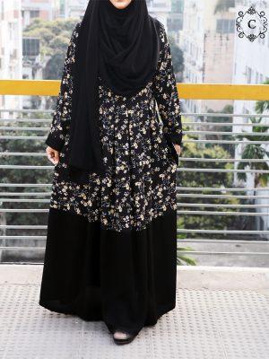 Zakiya Gown (black print)