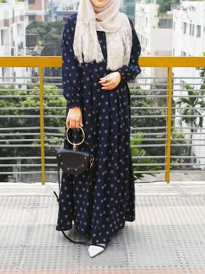 Sana Gown (blue print)