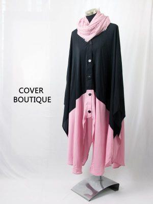 Button Cape (pink)