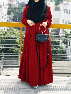 Sana Gown (red print)