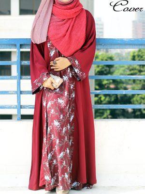Tahniya Kimono (maroon print)
