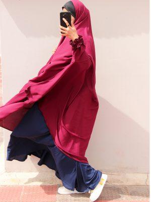 Niqab-Khimar Set (maroon-blue)