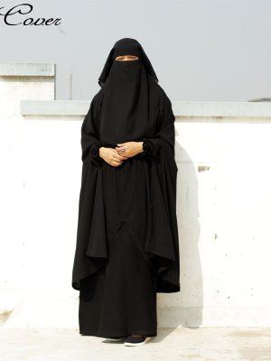 Sanjida Jilbab Set (black)