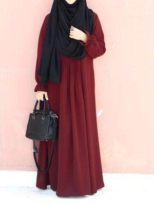 Ayesha Gown (maroon)