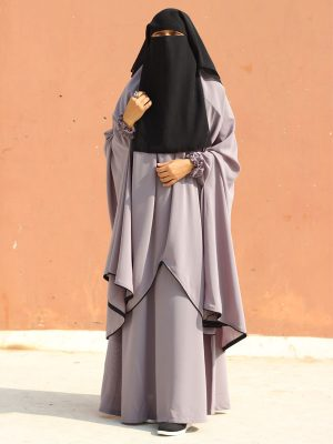 Sanjida Jilbab Set (Gray)