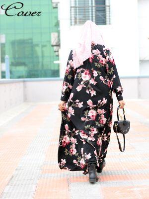 Zahra Gown (black floral)