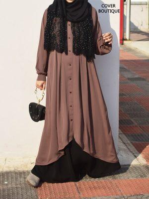 Sahara Top with skirt (chestnut)