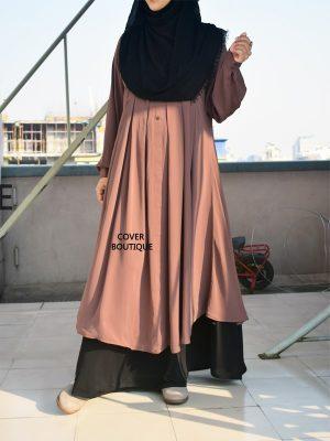 Malaika Kurti with skirt (chestnut)