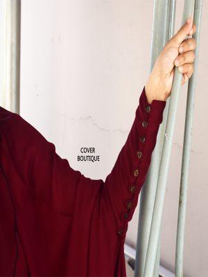 Haramain Jilbab Set (Maron)