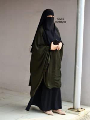 Basma Khimar Set (olive)
