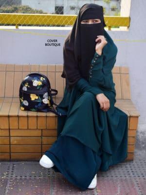 Haramain Jilbab (teal)