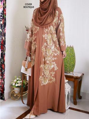 Scarlet Abaya (golden)