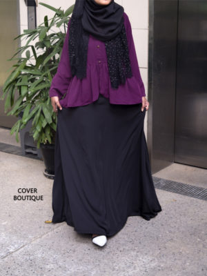 Evangka Dress (black-plum)