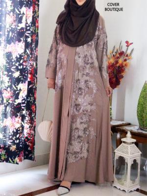 Scarlet Abaya (sandy beige)