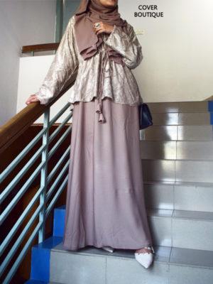 Nafisa Gown (sandy beige)