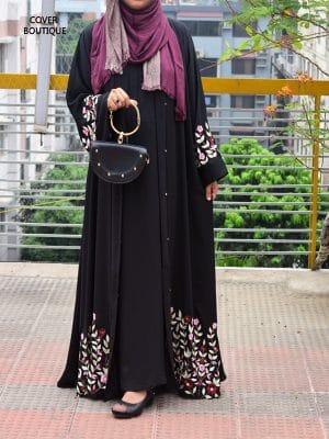 Scarlet Abaya (black flora)