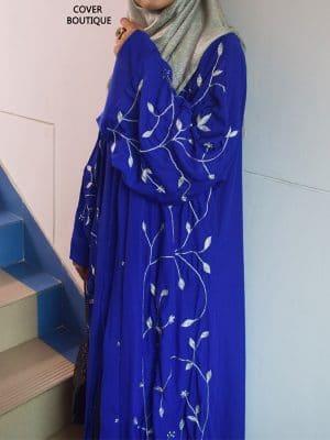 Scarlet Abaya (royal blue)