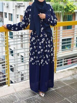 Zakiya Gown (blue flora)