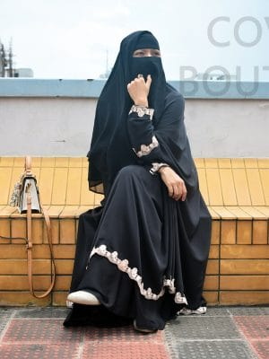 Nayla Jilbab Set (black)