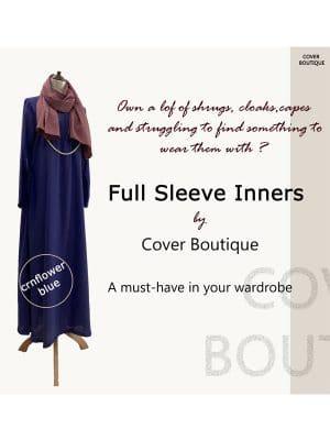 Full Sleeve Inner-Cornflower blue