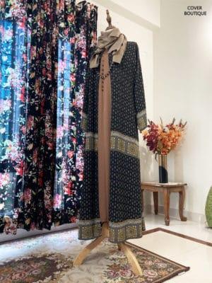 Tahniya Kimono Set (black jaquard)